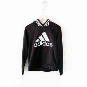 boys' adidas black & white hoodie